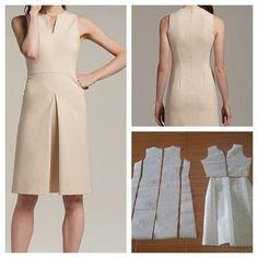 Vestido básico patrones