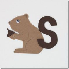 "Letter S squirrel craft with the book, ""The busy Little Squirrel."""