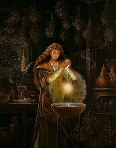 Cerridwen, the Celtic goddess of inspiration, witchcraft, wisdom & the cauldron. There's a tale behind her magical cauldron that is said to be lost in Avalon, which *coincidentally* is where Glastonbury is, where the Holy Grail is supposedly lost.