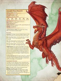 D&D 5.0 - Red Dragon | Book cover and interior art for Dungeons and Dragons 5.0 - Dungeons & Dragons, D&D, DND, 5th Edition, 5th Ed., 5.0, 5E, Next, d20, fantasy, Roleplaying Game, Role Playing Game, RPG, Game System License, GSL, Open Game License, OGL, Wizards of the Coast, WotC | Create your own roleplaying game books w/ RPG Bard: www.rpgbard.com | Not Trusty Sword art: click artwork for source