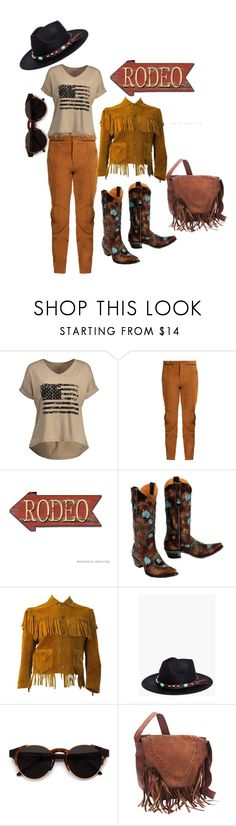 """woow rodeo, cowgirl"" by aluin ❤ liked on Polyvore featuring Chloé, Boohoo, RetroSuperFuture and SHARO"