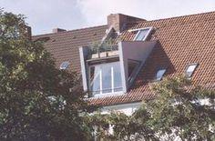 Dachansicht (Dachgaube mit begehbarer Terrasse)