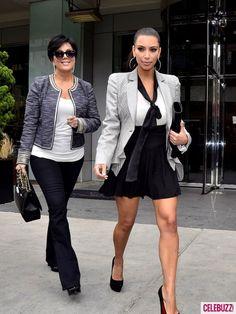 Kris Jenner and Kim Kardashian.