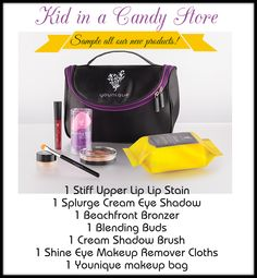 Kid in a Candy Store collection by Younique. Sample all of our new products with this collection!
