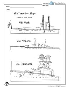 Pearl Harbor Ships Coloring Page   Woo! Jr. Kids Activities : Children's Publishing