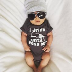 """Everyone knows that new babies get """"milk drunk"""", this hilarious phenomenon where they drink and drink until they quite literally pass out into peaceful slumbers. To have a little fun, and make a cute,"""
