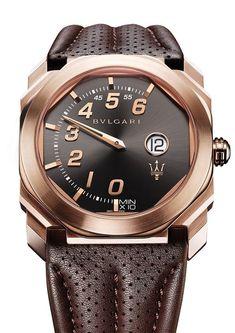 Bulgari Octo Maserati Caja de oro rosa, edición limitada y marcación de hora digital con hora retrógrada. #WatchesWorld, los relojes de tu vida.