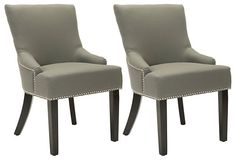One Kings Lane - Gray Locke Side Chairs
