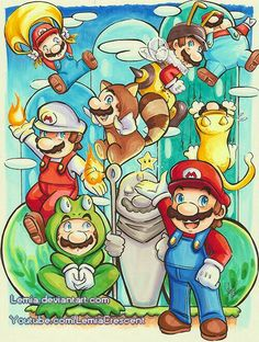 The many suits of mario