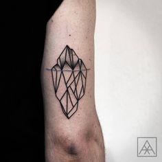 """""""Iceberg. #iceberg #tattoo #tattoaria #tattrx #geometrictattoo…"""
