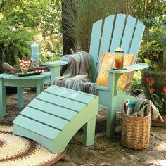 Painting outdoor furniture that will last--as well as the perfect place to unwind.