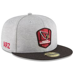 Men s Arizona Cardinals New Era Heather Gray Black 2018 NFL Sideline Road Official  59FIFTY Fitted 1ddb9c618