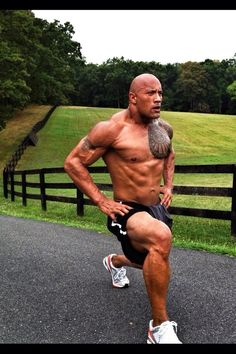Sports: Jogging - Dwayne Johnson The Rock | I've had a crush on The Rock since 8th grade... He's STILL fine!