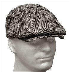 e62665546c2 GIFTED - HERRINGBONE TWEED GATSBY NEWSBOY Cap Wool Ivy Hat Golf Driving Men  Flat Cabbie Kangol