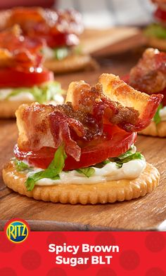 RITZ Crackers stand in for bread in this tasty little take on a favorite sandwich.