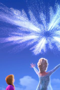 my-mouse-ears:  Frozen iPhone 4/4s wallpaper 2/3~ Anna & Elsa Enjoy!