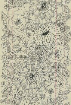flower garden doodles