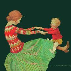 Mother playing with child - Jessie Willcox Smith FROM: Tudo Junto e Misturado
