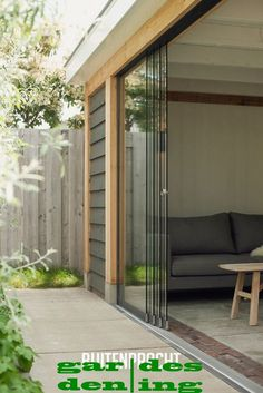 When age-old around idea, this pergola has been having somewhat of a modern day renaissance Garden Room, House Design, Exterior Doors With Glass, Outdoor Living, House Exterior, House Extension Design, Glass Doors Interior, Sliding Door Design, Balcony Design