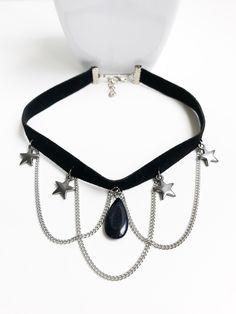 Choker pedra estrelar  Adquira em nosso site Www.cariocadasgemasacessorios.iluria.com ------------------------- Acessórios,chokers,colares,gargantilhas,tendência ,inverno,Winter,bijoux,atacado