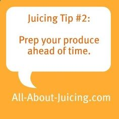 Juicing tip, save time by prepping :)