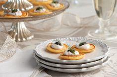 Sweet Potato Blini with Horseradish Crème Fraîche