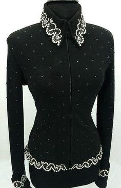 Black Jacket with Pearls by Deb Moyer ~ Ladies Medium – Just Peachy More