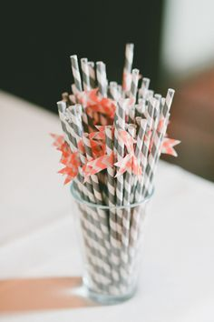 #straws  Photography: onelove photography - onelove-photo.com Floral Design: Primary Petals - yelp.com/biz/primary-petals-los-angeles  Read More: http://www.stylemepretty.com/2013/06/06/sierra-madre-california-wedding-from-onelove-photography/