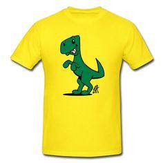 Tyrannosaurus Rex, Dinosaur  on a T-Shirt. #Spreadshirt #Cardvibes #Tekenaartje