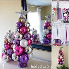 Wie Tabletop Stricknadel Ornament Weihnachtsbaum DIY | www.FabArtDIY.com