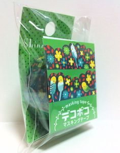 Kawaii Japan Deco Masking Tape:DecoPoco Shinzi Katoh Series Parakeets