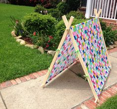 Multi-Color A-Frame Play Tent Cover by SewUs on Etsy & Birds and Flowers A-Frame Tent Cover Fort Teepee Playhouse ...