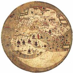 Fanciful 15th century Catalan mappamundi or world map.