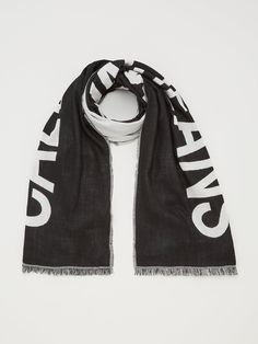 Calvin Klein Jeans Supporter Scarf - Black Beauty | littlewoodsireland.ie High Leg Boots, Long Toes, Fashion Games, Calvin Klein Jeans, Alexander Mcqueen Scarf, Adidas Jacket, Dress Outfits, Black Jeans, Black Beauty