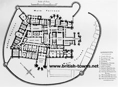 Belvoir Castle Ground Plan. A ground plan dating from the 1880's with rooms labeled with their use at that time e.g. Valet's Bed Room