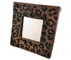 MOYNA New York Large Picture Frame With Beaded Leopard Print #MOYNANewYork #home #wholesale #shoptoko bead leopard, print moynanewyork, picture frames, pictur frame, leopard prints