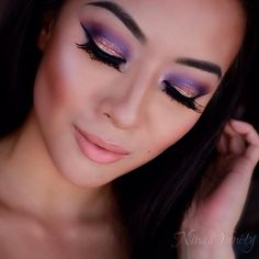Purple eye-shadow