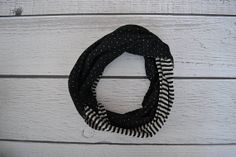 Toddler and Child Black and Gray Two Sided Infinity Scarves