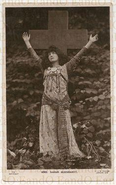 Antique Rare Photo Postcard Sarah Bernhardt  The Divine by EandO, $67.25