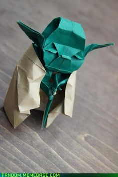 """Origami Yoda! """"Fold, or fold not, there is no try."""""""