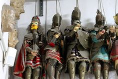 Sicilian Knight Puppets in the Puppet Museum in Palermo, Italy