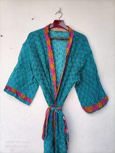 Mens Silk Kimono, Silk Kimono Robe, Kimono Dress, Long Kimono, Floral Kimono, Kimono Jacket, Cotton Kaftan, Cotton Saree, Vintage Cotton