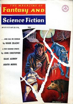 scificovers:  The Magazine of Fantasy and Science Fiction November 1965. Cover by Gray Morrow.