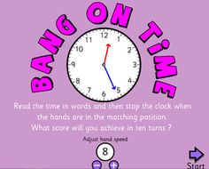 Time/Clocks - Interactive Learning Sites for Education--- links to lots of games