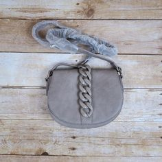 Haskell grey structured saddle cross body bag Shoedazzle OS color grey new saddle bag Shoe Dazzle Bags Crossbody Bags