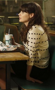 Lovely Blog, What would Zooey Deschanel wear? - Jess's polka dot sweater on New Girl.