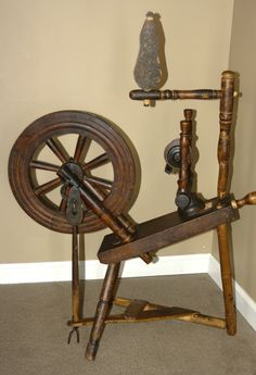 I really want an antique spinning wheel for the house. Just because.