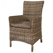 2 rattan chairs seat cushions outdoors garden furniture