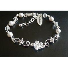 Perlen Kristall Armband Hochzeit