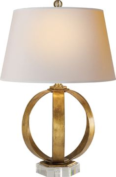 Want these so so bad for bedside lamps   METAL BANDED TABLE LAMP